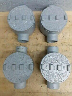 Lot Of 4 - Appleton Gr-efhc Series Conduit Outlet Box 1 Type C