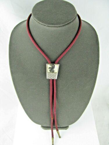 Unique & Rare Vintage Unicorn Bolo Tie Red cloth cord