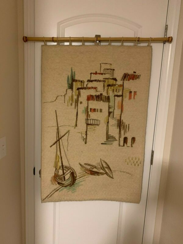 MID CENTURY TAPESTRY WALL HANGING