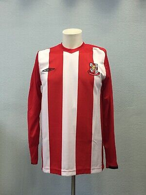 Long Sleeve Lincoln City Home football shirt 2008 - 2009. Size: S. Umbro jersey image