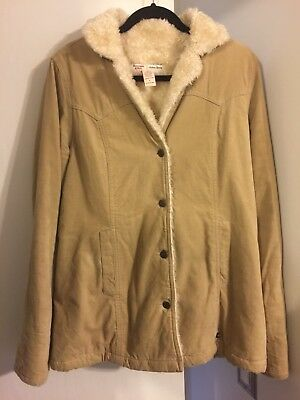 Abercrombie & Fitch Womens Sheerling Coat Size Large for sale  Hermosa Beach