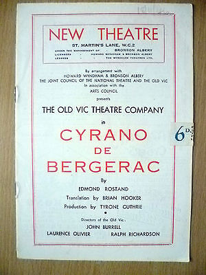 New Theatre OLD VIC CO. Programme 1944- CYRANO DE BERGERAC by Edmond Rostand