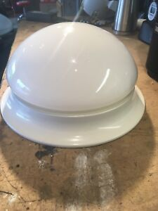 "Ceiling ""button"" lamp - white - flush mount"
