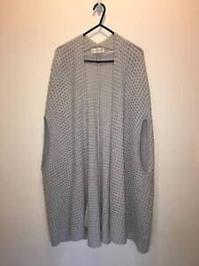 Peter Alexander Grey Knited Cardigan Throw Over One Size Fits All Meadowbrook Logan Area Preview