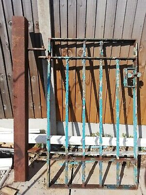 Reclaimed Wrought iron /steel gate And a free gate post 130cm X 87cm