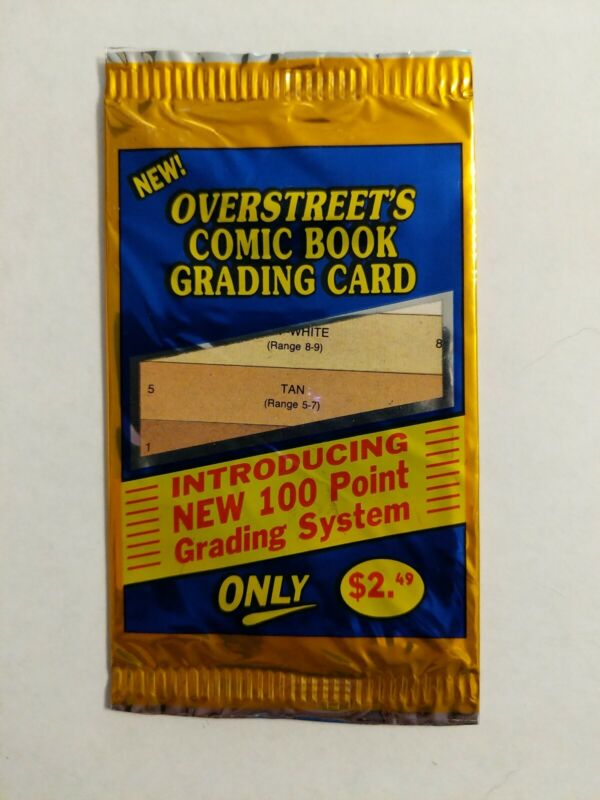 Overstreet Comic Grading Card Original Vintage Mint Rare Factory Sealed Pack OWL