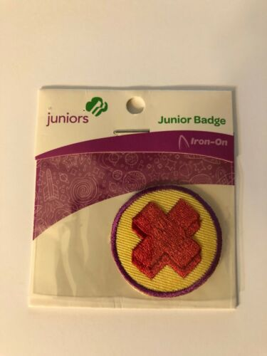 Girl Scout JUNIORS Badge ~ JUNIOR FIRST AID ~ new in package - made in china