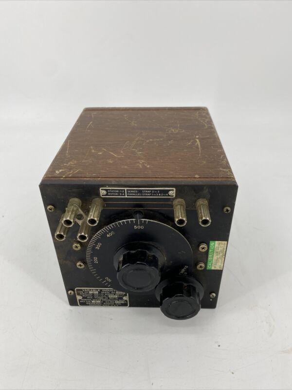 Vintage General Radio Type 107-K Variable Inductor 107K Made in USA