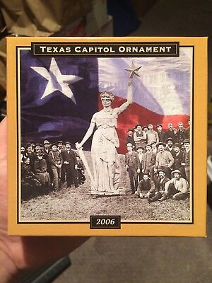 Mib Retired 2006 Texas Capitol Ornament   Goddess Of Liberty   Capital Series 11