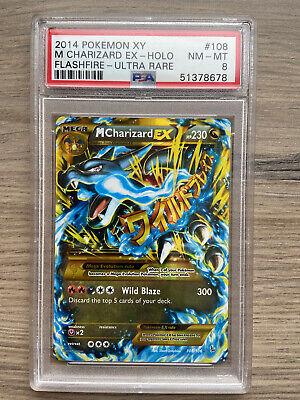 PSA 8 Mega Charizard EX 2014 Pokémon Flashfire Secret Rare 108/106