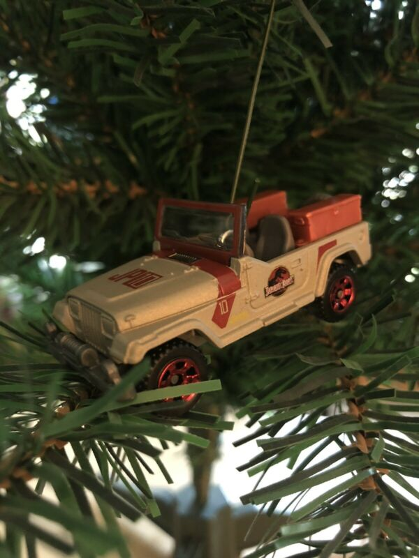 1993 Jeep Wrangler Jurassic Park Christmas Ornament!!