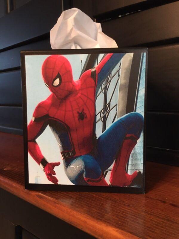 SPIDER -MAN TISSUE BOX COVER