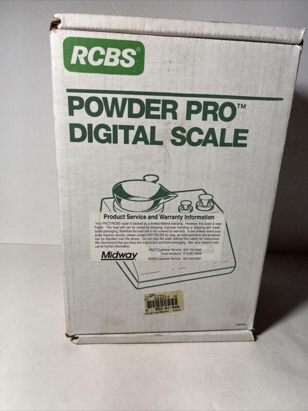 RCBS Reloading Powder Pro Digital Scale / Measure, Factory Box & Manual #98980