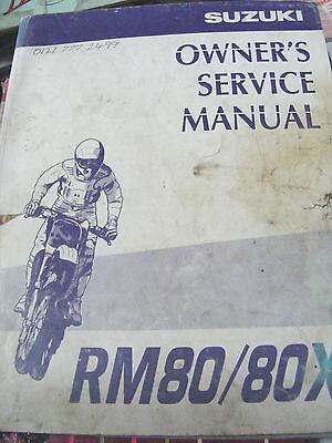 SUZUKI RM80 / 80X OWNER,S SERVICE MANUAL