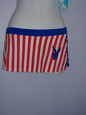 SALE-PLAYBOY SKIRT RED WHITE AND BLUE  - Red White And Blue Skirt