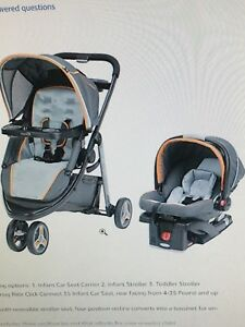 Graco Modes Click Connect Travel System in Orange