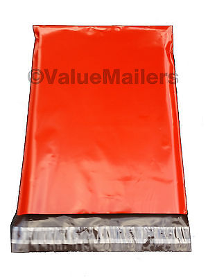 500 7.5x10.5 Red Poly Mailers Shipping Envelopes Couture Boutique Quality Bags