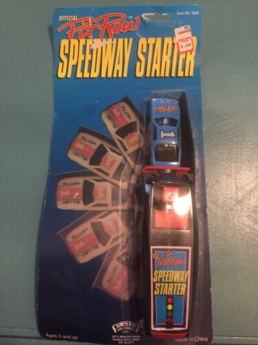 VINTAGE Richard Petty Pit Row Speedway Starter Toy Car Blue