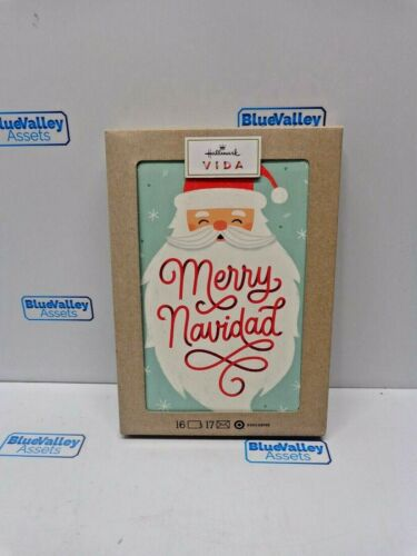 HALLMARK VIDA MERRY NAVIDAD CHRISTMAS CARD, 16 CT, NEW