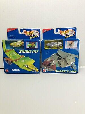 Hot Wheels Sto & Go Snake Pit 65711 Shark's Lair 65710 1995 Lot