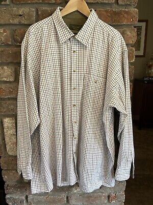 Mens Country Super Champion Ayr 100% Cotton Check Shirt 3XL Work Fishing Outdoor image