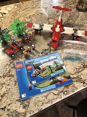 LEGO City Fire Plane 4209 - 100% Complete with Minifigures and Manuals