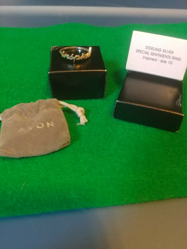 Avon Sterling Silver Special Sentiments Ring Size 10