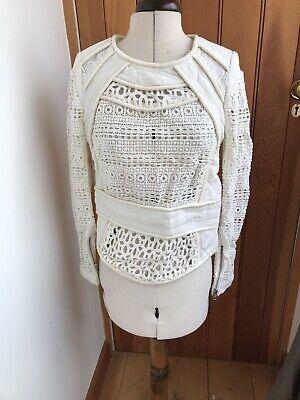 Iro Vintage Cream Crochet Top Used Not Perfect Padded