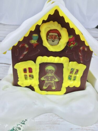 Alpine Village Ginger House Electrified Musical Christmas Decor Light Up MCM Vtg