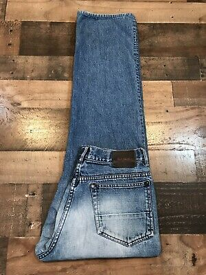 PAUL SMITH BUTTON FLY DISTRESSED FADED DENIM JEANS Mens Size 32x31