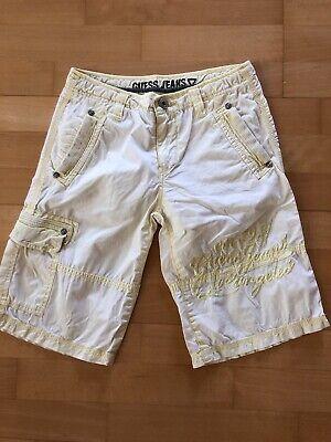 Guess Jean Shorts (Guess Jeans Shorts gelb Größe 10 oder ca. 32 (XS))