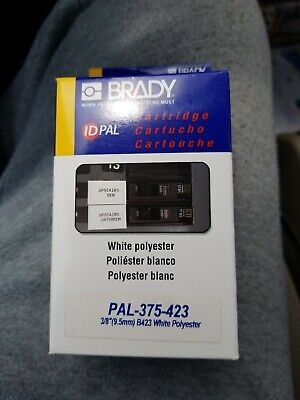 Label Cartridge Brady B423 Id Pal Labpal White Polyester 34 Pal 375-423