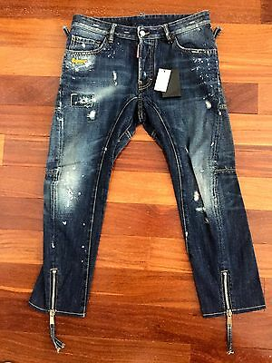 COLLECTORS ITEM DSQUARED² SS/2012 CROPED BIKER JEANS PERFECT S71LA0493 SIZ 46/32