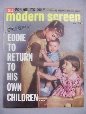 MODERN SCREEN MAGAZINE AUGUST 1960 EDDIE RETURN OWN CHILDREN FOR ADULTS ONLY