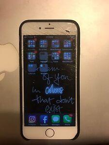iPhone 6, 64 gig, cracked screen