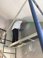 Bording /taping/steel stud framing/ Texture spray