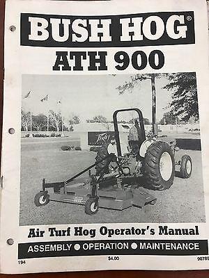 Bush Hog Operators Manual 900 Air Turf Hog Atf 90789 Used