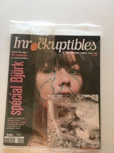 LES INROCKUPTIBLES Magazine #300 BJORK w/ Promo Vespertine CD 2001 France NEW