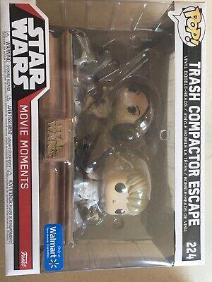 Funko Pop! Trash Compactor Escape Movie Moments Star Wars Disney Luke Leia #224