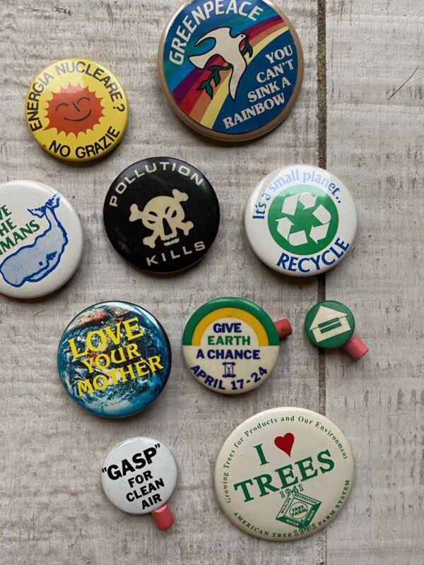 60s/70s Vietnam War Era ENVIRONMENT Pin/button Lot