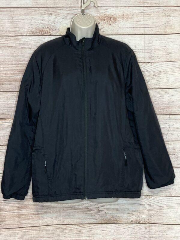 Womens Zero Restriction Golf Black Jacket Size Extra Large Tour Series Full Zip