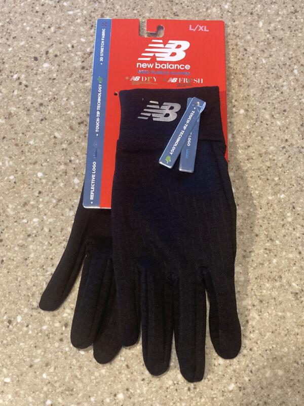 New Balance Men's Grid Fleece Touchscreen Running Jogging Reflective Gloves L/XL