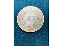Peru 2018 Coin 1 Nuevo Sol CONDOR ANDINO UNC Wild Fauna Collection