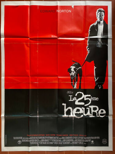 Poster The 25 20th Hour Spike Lee Edward Norton Rosario Dawson 47 3/16x63in