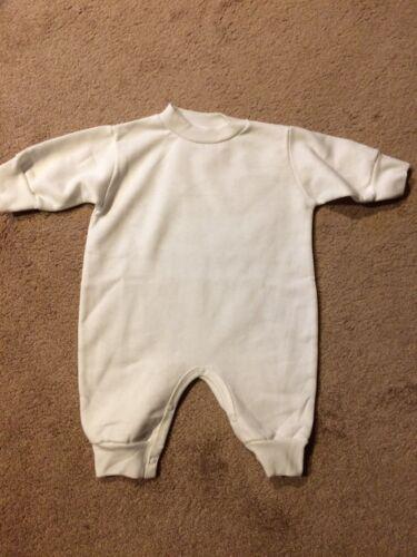 Infant Fleece One-Piece Romper Long Sleeve- size 12 months