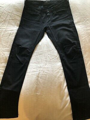 Mens SUPERDRY Black Copper Black Skinny Jeans Sz 30x30 Preowned