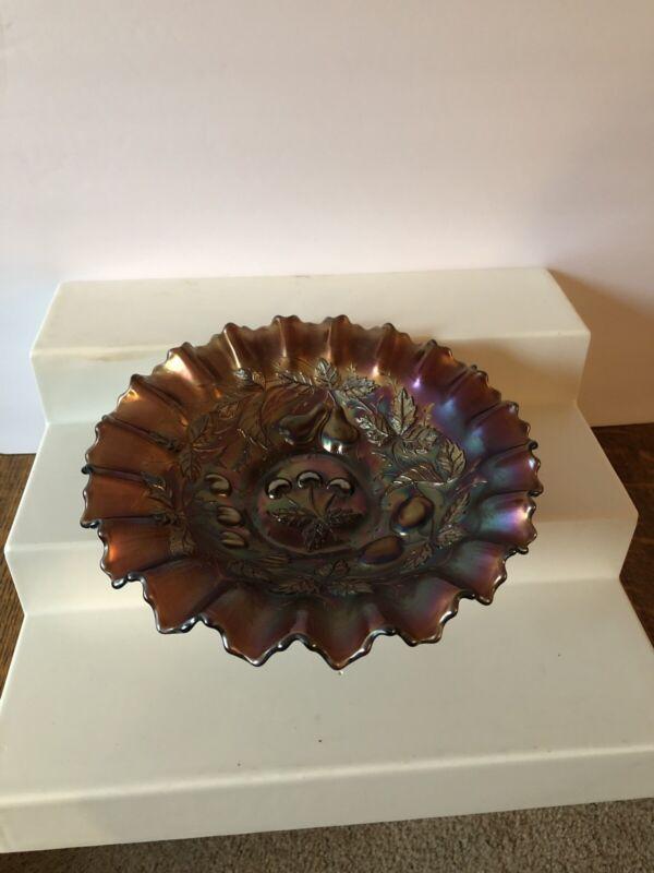 Antique Original Carnival Glass Candy Dish