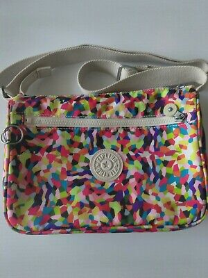 Kipling Multicolor Splatter Print Shoulder Handbag Purse