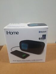 NEW SELAED - iHome Bluetooth Bedside Dual Alarm Clock Black *FAST SHIPPING*
