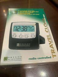 OREGON SCIENTIFIC TRAVEL CLOCK RADIO CONTROLLED
